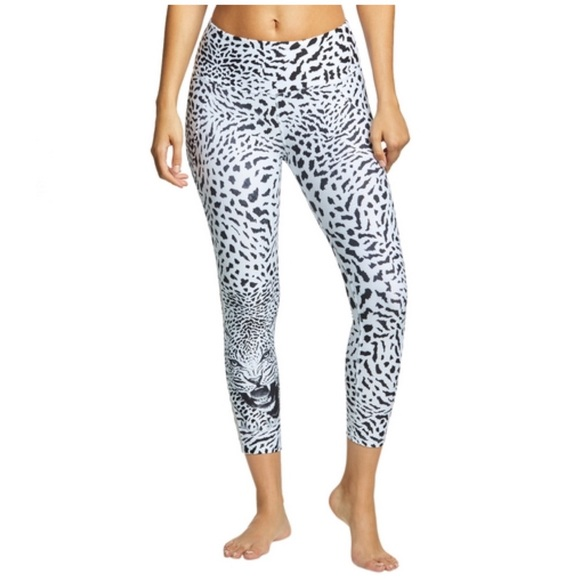 9eb9d63410a0 Betsey Johnson Pants | Black White Leopard Print Leggings | Poshmark